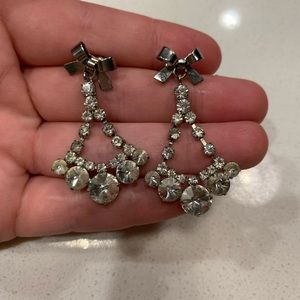 Betsey Johnson Crystal Earrings